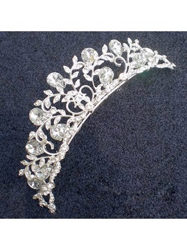 Exquisite Alloy With Rhinestone Wedding Bridal Tiara