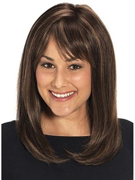 Beautiful Straight Human Hair Wig About 16 Inches