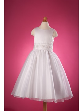 Lovely Ball Gown Round Neck Appliques Flower Girl Dress