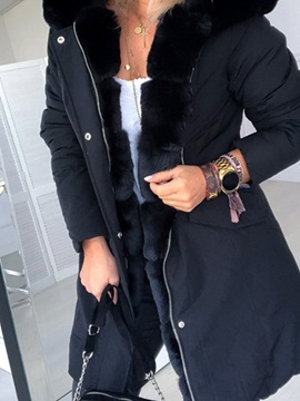 Patchwork Zipper Mid Length Long Sleeve Loose Womens Trench Coat