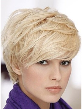 Custom 100 Human Hair Short Hairstyle Natural Layered Wig 6 Inches