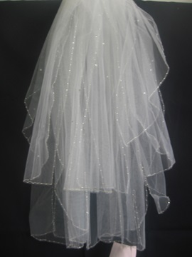 Fabulous Children Veil With Pearl Trim Edge