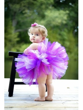 Short Mini Strapless Empire Color Flower Girl Dress