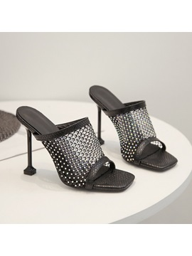 Mesh Slip On Fashion Sandals