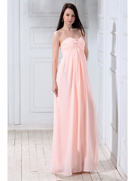 Glamorous A Line Sweetheart Empire Waist Floor Length Lubas Bridesmaid Dress