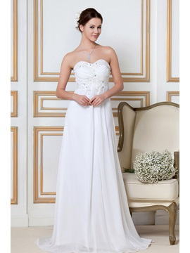 Enchanting Empire Sandras Sweetheart Pleated Wedding Dress Wg2293