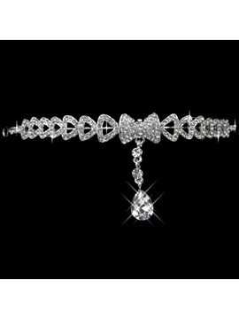 Graceful Alloy With Rhinestone Bowknot Wedding Bridal Tiara