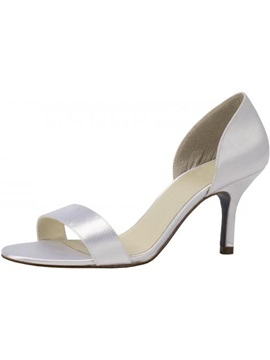 Popular Leatherette Upper Stiletto Heel Peep Toes Wedding Shoes