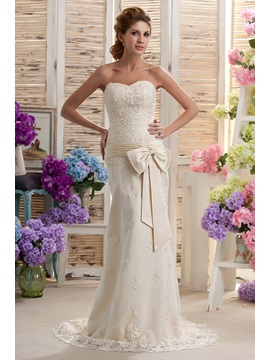 Sexy Sheath Column Sweetheart Appliques Court Nastyas Wedding Dress