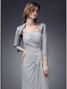 Simple Style 3 4 Length Sleeves Wedding Party Jackets Wraps