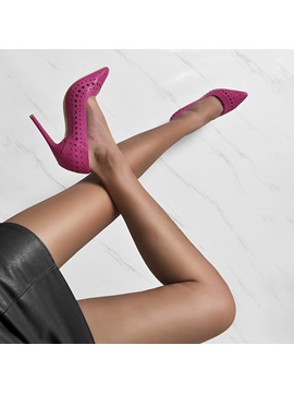 Pointed Toe Slip On Ultra High Heel Customized Pumps
