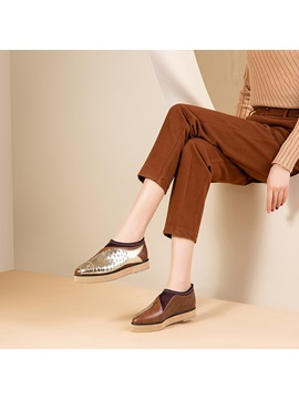 Pointed Toe Slip On Casual Shoes For Women