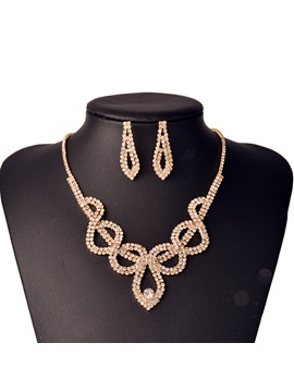 Necklace Diamante Romantic Birthday Jewelry Sets