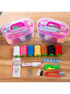 Plain Desktop Storage Box Household Essentials Necessities Daily Sewing Kit Set