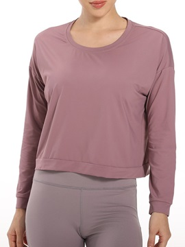 Solid Quick Dry Nylon Long Sleeve Female Tops