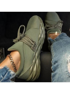 Slip On Round Toe Lace Up 3cm Thin Shoes
