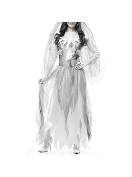 Halloween Horror Ghost Bride Zombie Costume Party Masquerade Costume