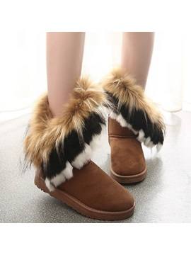 Round Toe Slip On Flat With Western Boots