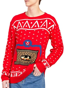 Christmas Red Pullover Winter Mens Hoodies