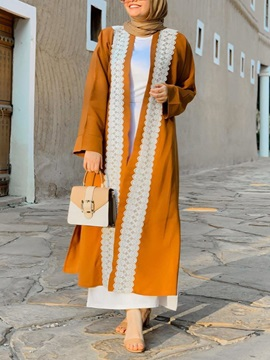 Long Lace Ethnic Summer Womens Trench Coat