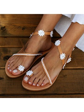 Toe Ring Slip On Flat With Western Sandals