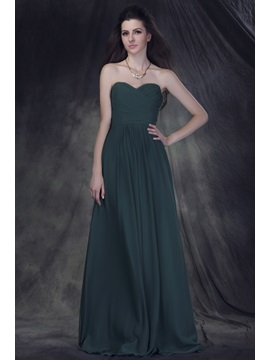Exquisite A Line Strapless Sleeveless Floor Length Ruched Anderais Bridesmaid Dress