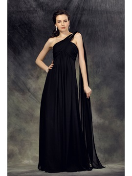 A Line Floor Length One Shoulder Lubas Mother Of The Bride Dress