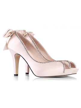 Outstanding Beads Chains Wedding Party Stiletto Shoes