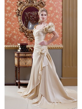 Cheap Sweetheart Chapel Capped Slight Mermaid Trumpet Train Veronika Valentinovas Wedding Dress