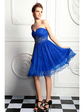 Pretty A Line Short Length Sweetheart Sequins Beading Anitas Homecoming Dress