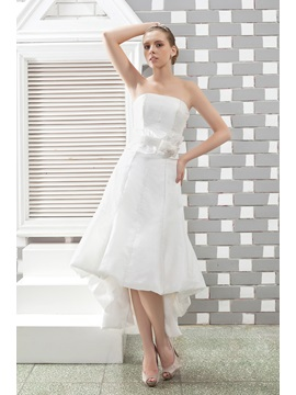 Bright Empire Strapless Asmmetry Sash Anitas Wedding Dress