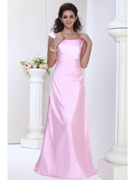 Beautiful A Line Princess Scoop Floor Length Julianas Bridesmaid Dress