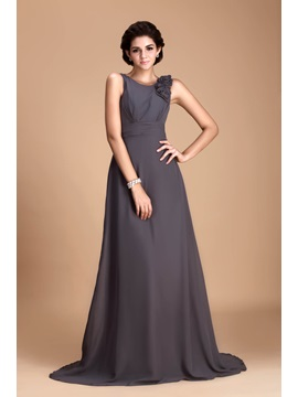 Pretty Flowers Sheath Column V Neck Floor Length Julianas Bridesmaid Dress
