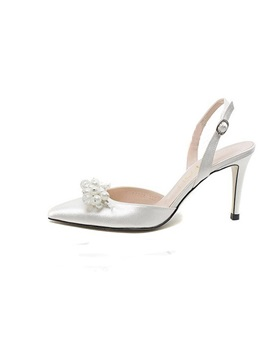 Graceful Satin Upper Stiletto Heel Closed Toe Wedding Shoes