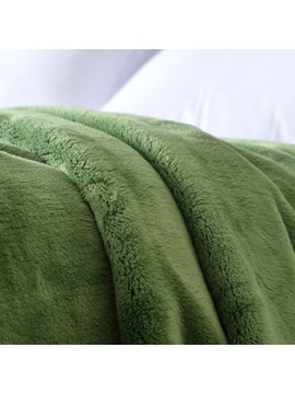 Flesh And Beauty Green Thick Flannel Sheet Blanket