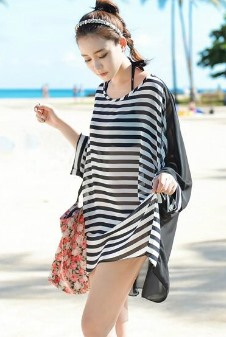 Loose Fit Chiffon Narrow-Strip Summer Beach Dress