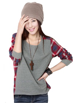 Boutique New Loose Round Neckline Long Sleeves T-shirt