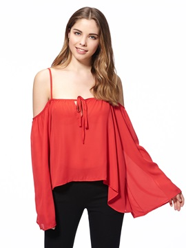 Special Sleeves Chiffon Tank Top