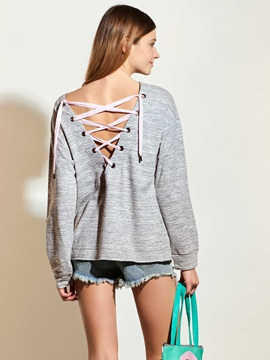 Stylish Back Lace-Up Loose T-Shirt
