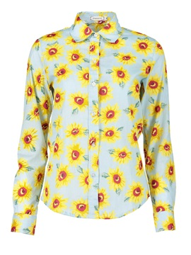 Lapel Flower Print Shirt