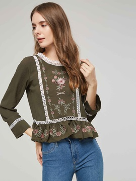 Bohemian Hollow Embroidery Women's Blouse