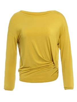Standard Round Neck Long Sleeve Women's T-Shirt