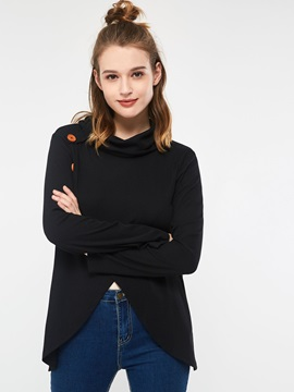 Plain Long Sleeve Mid-Length Simple Slim Women's T-Shirt