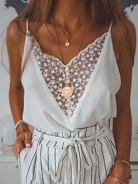Summer Spaghetti Straps See-Through Women's Tank Top