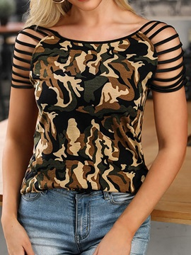 Camouflage Hollow Summer Women's T-Shirt