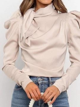 Plain Long Heap Sleeve Standard Women's Blouse