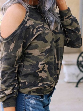 Long Sleeve Standard Camouflage Western Fall Women's T-Shirt