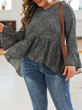 Flare Long Sleeve Style Women's Blouse