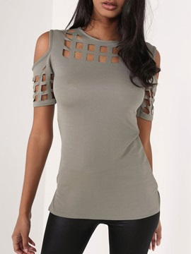 Round Neck Short Sleeve Mid-Length Casual Straight Women's T-Shirt