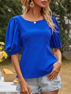 Plain Short Sleeve Standard Summer Western Women's T-Shirt